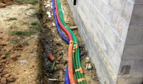 Raccordement tout à l'égout sous terrain de pavillon à Acigné